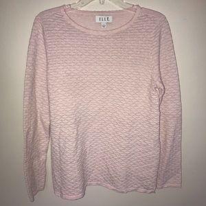 Elle Crewneck Sweater, Pink/ Silver, Large